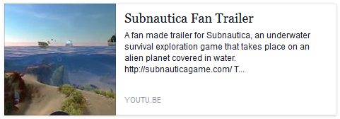 If you haven't seen our Subnautica Fan Trailer, check it out here!